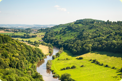 beautiful river wye valley